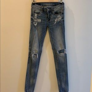 American Eagle 0 Extra Long Jeans